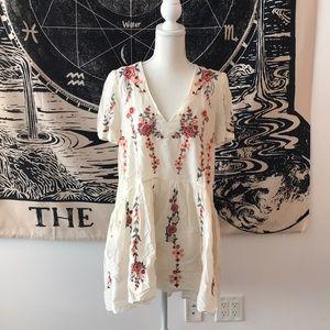 Zara Embroidered Mini Dress